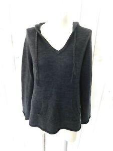 Roxy Black Hooded Pullover Sweater - Size Large