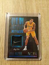 2017-18 Panini Noir KYLE KUZMA New Wave Jersey Patch 1/1 Lakers NIKE LOGO