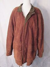 U2  Wear Me Out  Distressed Soft Brown Leather Bomber Jacket Zip Fall Size Large