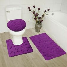 NEW ROCK STYLE EMBOSSED BATHROOM SET DESIGN STANDS OUT WITH RUBBER BACKING SOLID