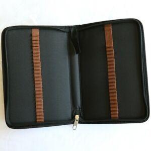 Artist Pencil Carry Case BLACK 48 Slot   US Art Supply PH-148 Zippered Nylon