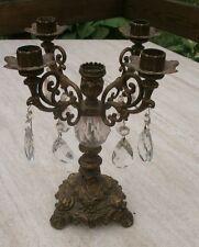 BRASS Hollywood Regency CANDELABRA Candle Holder Italian French Provincial