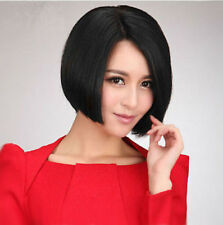 New Fashion Short Black Straight Bob Women Lady Cosplay Hair Wig Wigs + Wig Cap