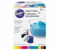 Wilton 1/2-Ounce Certified-Kosher Icing Frosting Food Colors Set Of 12 601-5580
