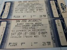 2 TORI AMOS 1998 Unused Concert Ticket San Jose. Classic, stunning, wonderful