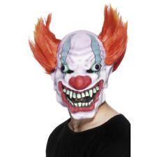 Clown Mask Mens Ladies Halloween Scary Clown Face Mask Fancy Dress