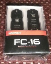 NEEWER FC-16 CAMERA STROBE FLASH LENS SHOT ELECTRONIC REMOTE TRIGGER for CANON
