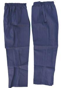 Bob Barker TriStitch TNT-2XL Navy Elastic Waist Pull On Trouser Pants 2XL 2pk