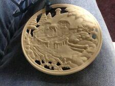Signed Wedgwood vintage Ornament White Jasper Round Bisque Porcelain
