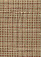 Fabric Green Reddish Brown Plaid