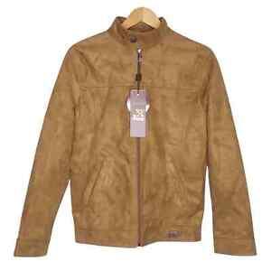 Armani Emporio Collezioni Men's Size Small Suede Leather Moto Racer Jacket NWT