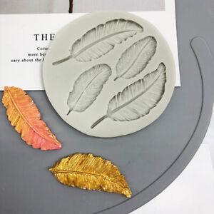 Silicone Feather Fondant Mould Cake Chocolate Baking Decoration Border Tool Mold