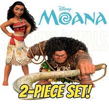 MOANA & MAUI 2-Piece Set CARDBOARD CUTOUT Standup Standee Poster FREE SHIPPING