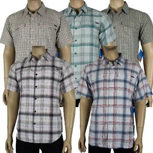 "New Mens Columbia ""Kestrel Ridge"" Omni-Wick Multi Plaid Short Sleeve Shirt"