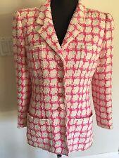 Chanel Vintage Gorgeous Fantasy  Pink & White 95P  Blazer Style Jacket Size:44