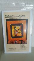Autumn Fall Welcome Cross Stitch Kit Bobbie G Designs Aida Cloth NEW