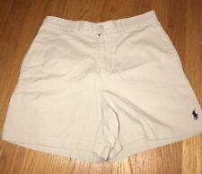 RALPH LAUREN SPORT Polo Horse Logo Khaki Bootie Shorts Pants Sexy Womens Sz 4 #