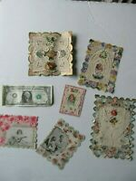 Lot of Rare Large Fancy Orig Antique Victorian Valentine Greeting Cards, c. 1880