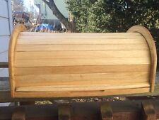 Vintage Wood Roll Top Bread Box