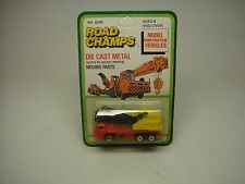 VINTAGE-YATMING-ROAD CHAMPS(JRI INC)--CRANE RED/YELLOW--DIE-CAST W/MOVING PARTS-