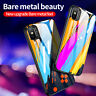 For iPhone 11 Pro Max XS Max XR Tempered Glass Hard Case Rubber TPU Bumper Cover
