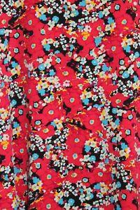 Lularoe Perfect T Shirt Swing Silky Top Blouse Red Flora Pattern New 2XL USA XXL