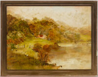 Framed Early 20th Century Oil - Autumnal Landscape