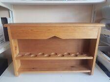 Large Old 2 Tier Pine Wood Curio Cabinet Display Unit Storage Shelves Furniture