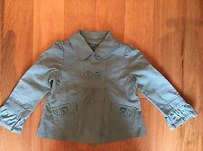 Girls Aqua Turquoise Cotton Jacket Age 6-7