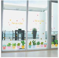 "Wall Sticker Window Decals Pot Flower Cactus Vinyl Decor DIY ""Pot Culture"""