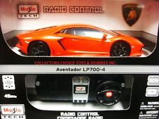 MAISTO TECH R/C 49MHz 1/24 LAMBORGHINI AVENTADOR LP700-4 ORANGE 81057