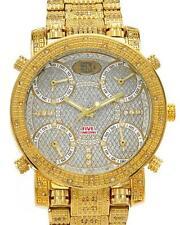 GRAND MASTER Brand NEW Diamond Watch w/ 5-Time Zones & Interch. Straps, 1.25 cwt