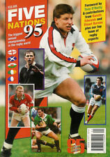 PREVIEW OF 5 NATIONS RUGBY 1995 A4 SIZE MAGAZINE