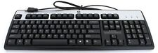 GENUINE HP Full Size USB Deluxe Keyboard/KB BLACK/SILVER 382642-B31*INCL.POSTAGE
