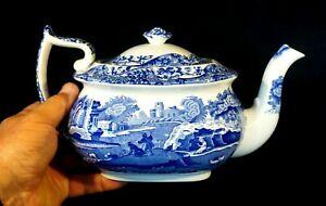 Beautiful Copeland Spode Italian Blue Teapot