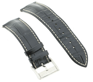 Genuine Hamilton Black Calf Leather Watch Strap 22mm Lug & Buckle Clasp