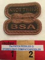 FREE SHIPPING ~ BSA PATCH ~ KNOT TYING ~ OUTDOORSMAN & SURVIVAL SKILLS 59Z2