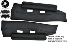 BLACK STITCH 2X UNDER DASH TRIM LEATHER COVERS FITS LOTUS ELAN PLUS 2 +2 67-75