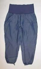 LULULEMON POST POWER CROP CADET BLUE YOGA GYM TO AND FROM PILATES RUNNING SIZE 4