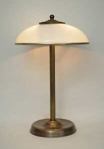 Art Déco Design Mushroom Lamp Bankers Lamp Table Lamp Brass Lamp Berlin Unique