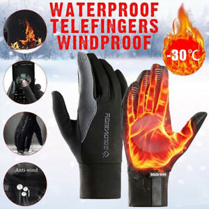 Winter Handschuhe Damen Herren Thermo Warme Windproof Touchscreen Wasserdicht DE