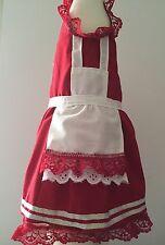 Dog Dress Mrs Claus W Apron/Under Skirt Small Handmade USA 1033