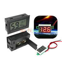 LCD Display Temperature Humidity Thermometer Hygrometer & RED LED Voltage Meter