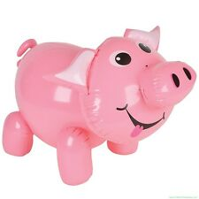 "20"" Inflatable Pig Blow Up ~ Cute Piggie Piggy Swine Party Decoration Party Toy"