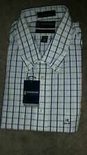 STAFFORD ESSENTIAL MEN'S DRESS SHIRT, size 18 inches neck (34-35).