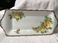Royal Albert Rectangular Serving Plate Tea Rose J58 Yellow