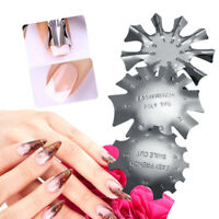 UK_ EG_ French Nail Smile Line Precise Guide Edge Trimmer Nail Art Stencil Templ