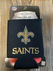 Brand New New Orleans Saints Premium Black Beer/Soda Can/Bottle Koozie Cooler