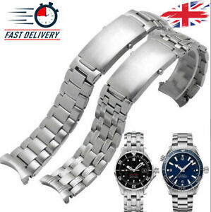 Watch Band Stainless Steel Omega Seamaster Replacement Strap Bracelet Silver 007