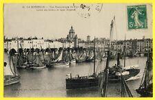 cpa 17 - LA ROCHELLE en 1912 (Charente Maritime) Vue du PORT de PÊCHE Bateaux